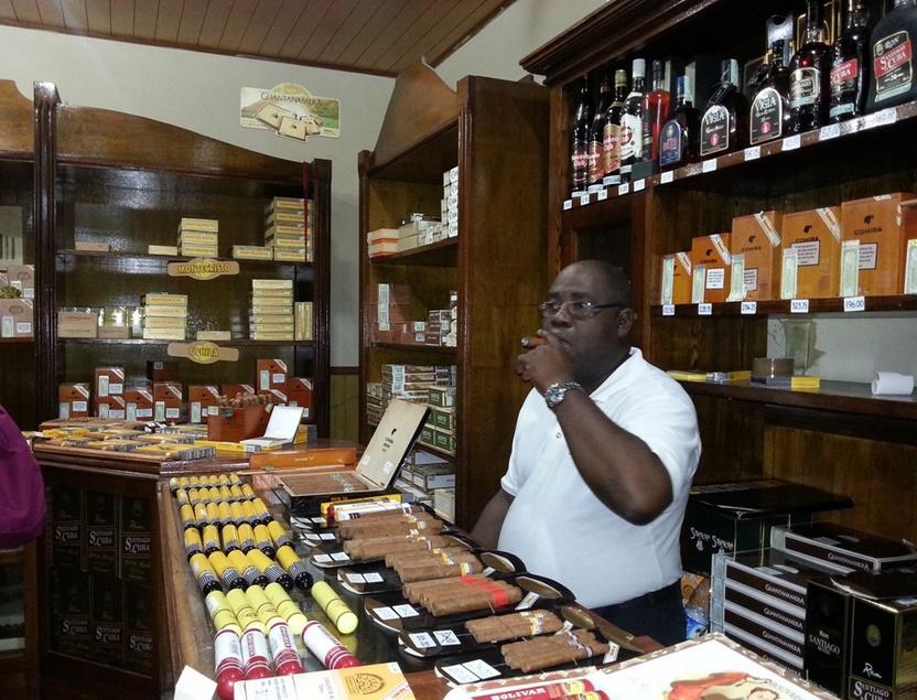 Магазин сигар на Кубе