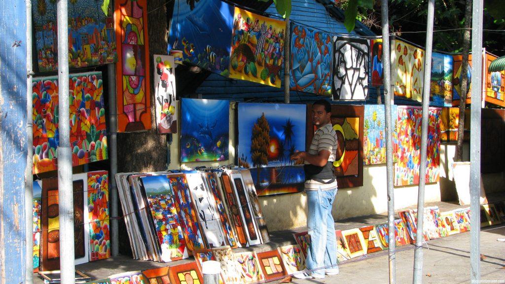 Картинная лавка в Доминикане