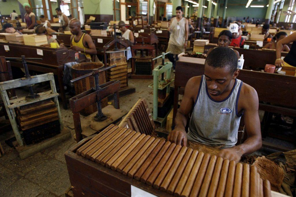 Производство табака на Кубе